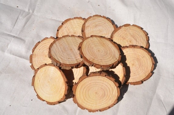 12 pine slices 8 10 cm rough cut wood by stringybarksupplies for How to cut wood slices
