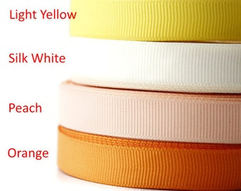"1/2"" Grossgrain ribbon, Grosgrain ribbon, Gross grain  ribbon, Sewing, Scrapbooking, Dressmaking, Bright colour palette,  by the yard"