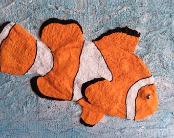 Clown Fish -- Unframed, 12 x 12