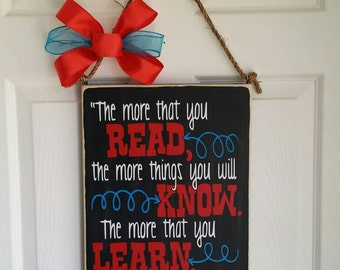 Dr. Suess quote 16×12 wood sign