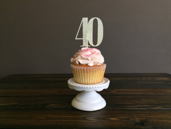 Edible 40th Birthday Cupcake Decorations Image Inspiration of Cake