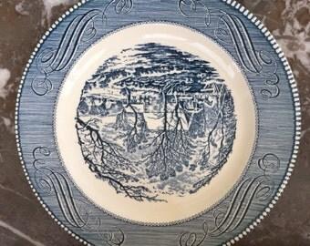 Currier & Ives Dinner Plate