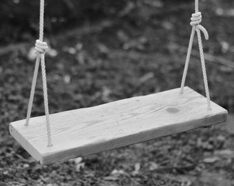 Reclaimed timber swing