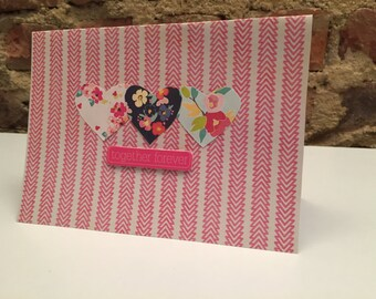 Valentine's Day // Together Forever Paper Hearts Card