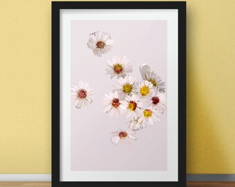 Illustration Print, Framed Print, Wall Art, Pastel, Flowers, Cute Illustration, Illustration Design, Home Decor, Art and Collectibles, UK
