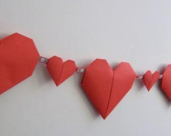 Origami Heart bunting/Garland