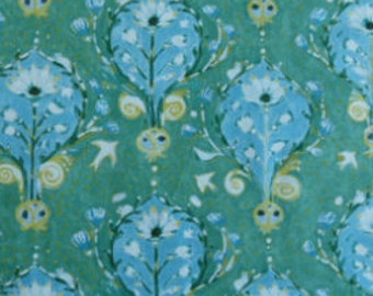 SALE Fabric - In the Beginning - September Light by Lida Enche - Floral - Blue  - Cotton fabric by the yard (last yard)