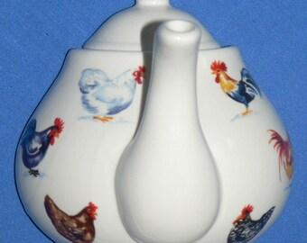 Chicken ceramic teapot wall hook