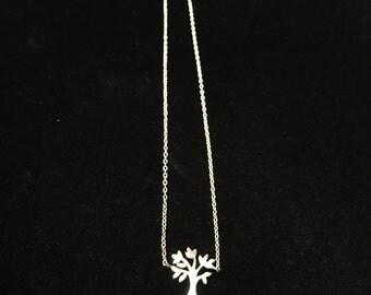 Vintage Sterling, 925 Necklace, Tree Pendant