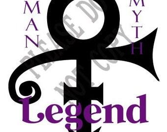 Prince Memorial, SVG, The Artist, Musician, Purple Rain
