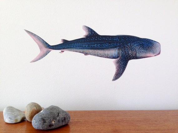 Whale Shark Wall Sticker Whale Shark Decal By Chameleonwallart