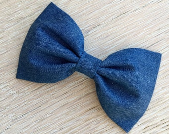 Large Denim Bow