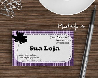 Pre-made Business Card Design | Modern Design | Printable | Personalized | Digital File