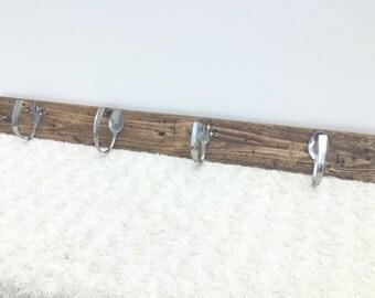 Handmade coat or kitchen towel rack