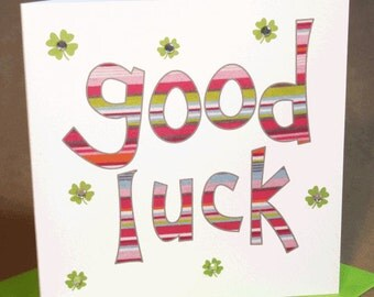 Good Luck Card  (jewelled)