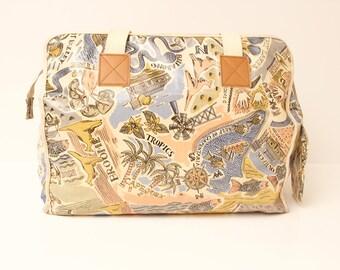 80s • Vintage • Weekender • Travel Bag • Diaper Bag • Beach Bag • Weekend Bag • Big Bag • Top Handle Bag • 80s Beach Bag • Bag • Handbag