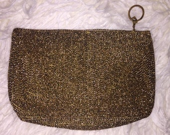 Vintage Garay Gold Zippered Pouch