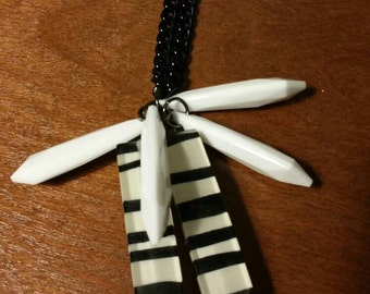 Zebra love necklace