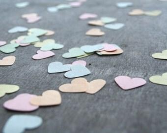 Pastel heart confetti, Pastel hearts, Small paper heart, Wedding confetti, Wedding toss confetti, Pastel confetti, Pastel decor, Heart decor
