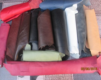 Quality Leather Italian Scrap/Off Cuts/Pieces 500g