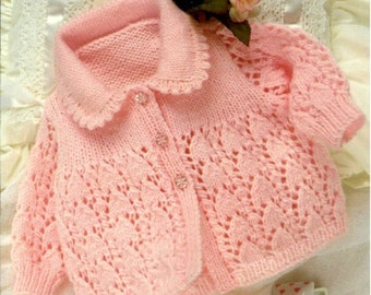 Knitting pattern baby jacket lace cardigan PDF Instant Download Nr.205