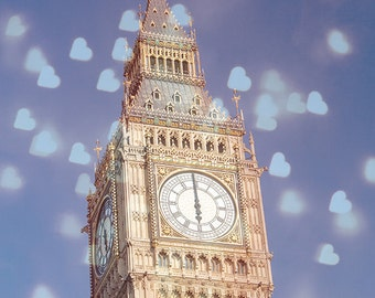 "London Photography, Big Ben, Wall Art Print,  London Decor,  Fine Art Photo Print, Wall art, London Photo,  ""London Love"""