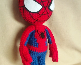 Amigurumi Spider-man plush human doll crochet
