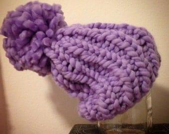 Kids Handmade Knit Pom Pom Hat