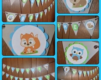 Babyshower Banner - Welcome baby boy