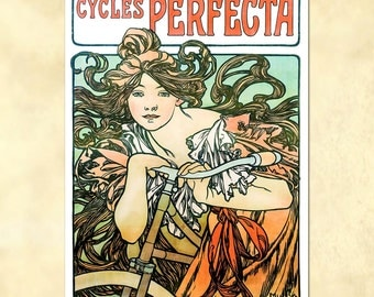 Alphonse Mucha – Cycles Perfecta - 1902 - Art Nouveau Poster - vintage - antique repro digital download