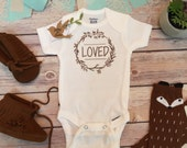 LOVED Baby Onesie®, Newborn Take Home Outfit, Baby Boy Clothes, Coming Home Outfit, Loved Onesie, Unisex Baby Clothes, Boho Baby, Branches