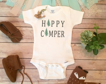 Hipster Baby Clothes, Baby Boy Gift, Camper Onesie®, Baby Boy Clothes, Baby Shower Gift, Cute Baby Clothes,Cute Onesies,Happy Camping Onesie