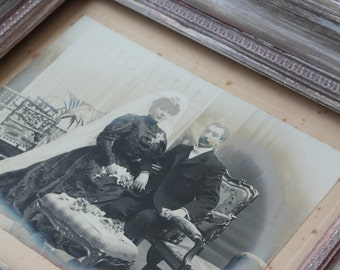 Photograph of a couple of the nineteenth century - Y E.F. so-called NAPOLEON Barcelona - Spain - Rare old photography