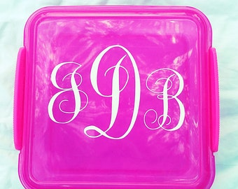 Personalized Sandwich Lunch Containers - Square Container - Lunch box for kids and adults
