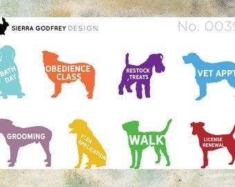 Dog reminder stickers 0038 - dog stickers, planner stickers, dog walk stickers, dog lovers, Day Designer, Happy Planner