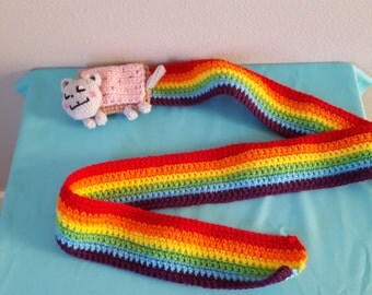 Nyan Cat Scarf crochet