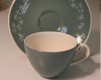 1950s Royal Doulton espresso cup and saucer - Queenslace