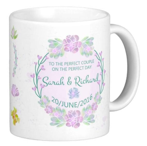 customized wedding mugs, wedding ceremony gift mugs x2 , bride and ...