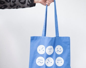Blue Frown Bag
