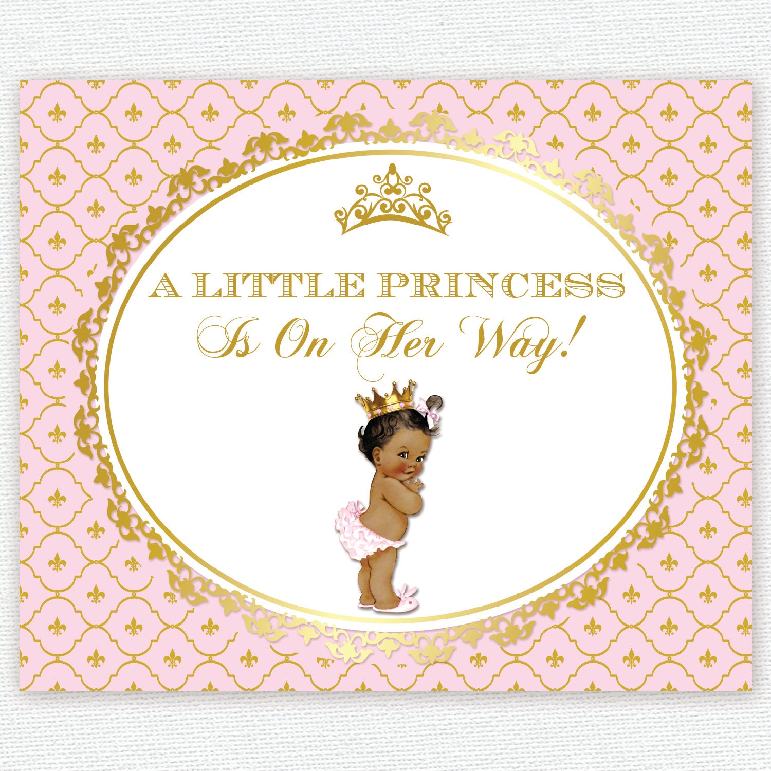 Crowns For Baby Shower: Pink And Gold Princess Crown Baby Shower 1st Birthday