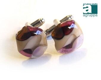 Handmade Glass cufflinks