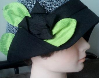 lady's hat with asymmetrical brim