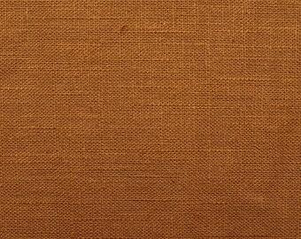 Linen natural - color: rust-light - 100% natural fiber - 0.5 m