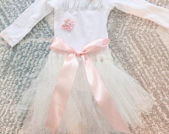 Pink tutu with girls name