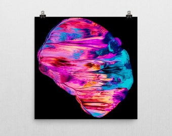 "Vibrant abstract painting Giclee print — ""Strains"" // 12x12 or 18x18 // Wall art // Home decor"