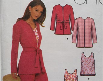 Simplicity 9630 jacket,top,pants and shirt pattern size (16-18-20-22)