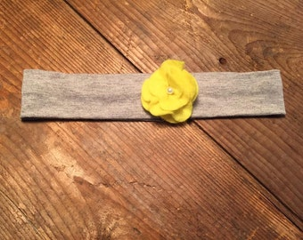 headband flower yellow