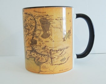 Middle Earth Mug - Lord of the Rings & The Hobbit