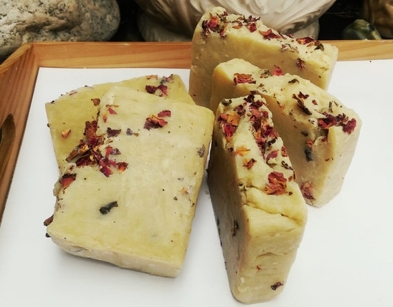 2 Pack Organic Rose, Sensitive Skin Soap, Gentle, Traditional, Face Body Soap, Organic & Eco Friendly, Gift Set