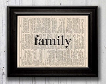 FAMILY -- Dictionary Print 1011